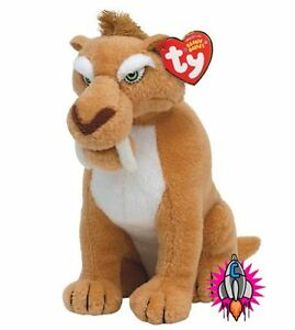 TY BEANIE BABIES ICE AGE DIEGO SABRE TOOTH CAT TIGER SOFT TOY NEW WITH TAGS
