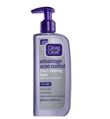 Cln&Clr Adv Acne 3n1 Foam Size 8z Clean & Clear Advantage Ac