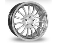 """Audi 18"""" alloy wheels for sale or swap"""