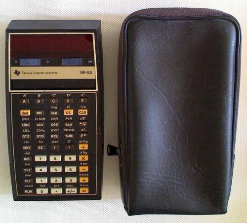 Texas Instruments SR-52 Vintage Programmable Slide Rule Calculator + Case