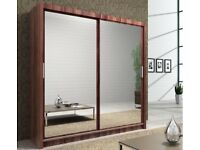 Full Mirrored 2 Door Sliding Wardrobe