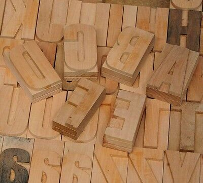 202pcs - 2.83 Letterpress Wood Printing Blocks Wooden Alphabet Type Printer