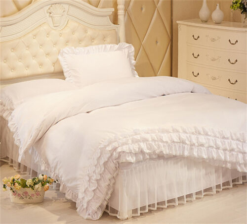 King Single Beds Sa : Lace princess bed pillowcase quilt cover duvet set