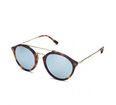 Kapten & Son Fitzroy Matt Tortoise Blue Mirrored Sunglasses