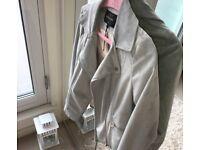 Grey/Ice Blue River Island Suede Jacket
