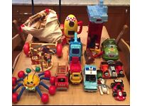 Great Selection of Toys inc 1996 wooden Teletubbies