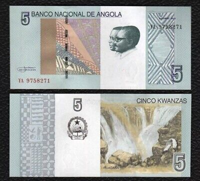 ANGOLA 5 Kwanzas, 2012(2017), P-151, Embroidery/Ruacana, UNC World Currency