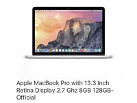 """MacBook Pro 2015 13.3"""" retina new out of box"""