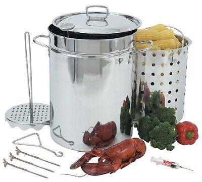 Stainless Steel Turkey Fryer (Turkey Fryer XL Cooker Butterball Deep Pot Pan Stainless Steel Propane Outdoor  )