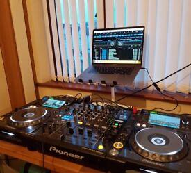 CDJ Nexus 2000 x2 and DJM 900 Nexus mixer