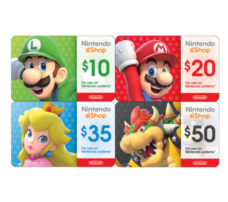 Купить Nintendo eShop Digital Card - $10 $20 $35 $50 - Email delivery