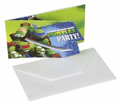Teenage Mutant Ninja Turtles Party Einladungen & Umschlägen 6pk - Tmnt Party