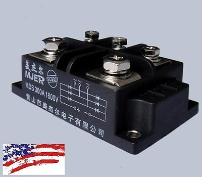 US Ship MDS300A 3-Phase Diode Bridge Rectifier 300A Amp 1600V Power