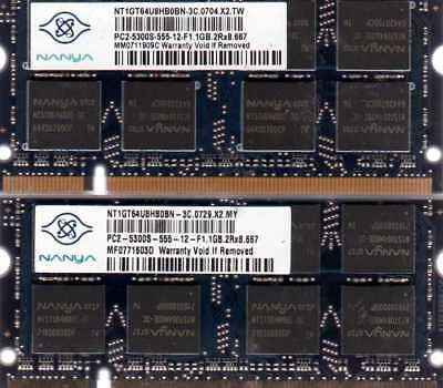2GB 2x 1GB Kit Acer Aspire 3100 3690 5100 5315 5536 5570 5570Z DDR2 RAM Memory for sale  Shipping to India