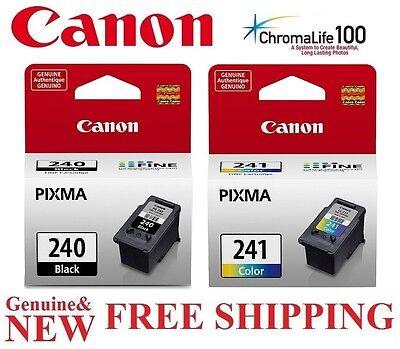 2-PACK Black 240 / 241 Color Ink Cartridges for Canon MG3620 Printer *GENUINE*