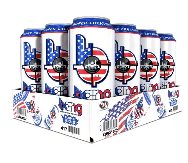 Bang Energy Drinks Military Edition - Purple Kiddles - 12 Pack