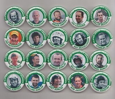 ULSTER GRAND PRIX LEGENDS  MAGNETS  X20 ( SET 1 )  38mm  IN SIZE