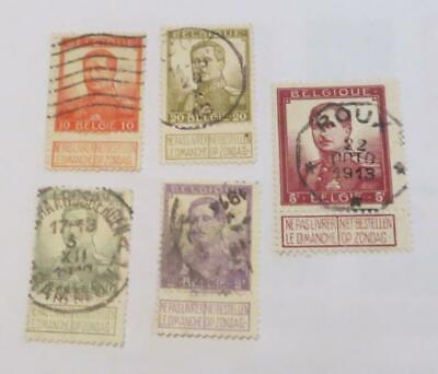 Belgium 1912 King Albert small collection used
