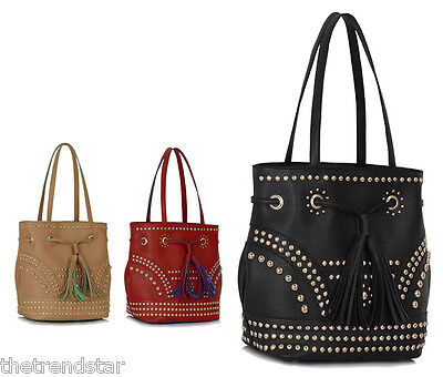 New Womens Design Handbags Ladies Celebrity Style Faux Leather Shopper Bags Tote