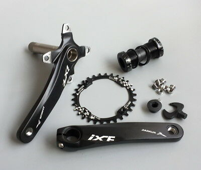 MTB XC Bike Crankset crank arm 170mm w BB Narrow Wide Round single Chainring 30T