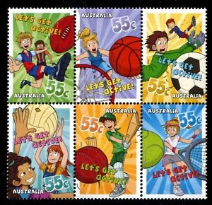 Australia-3168a-MNH-Children-Plaing-Sport-x7671