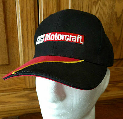 Ford Motorcraft Black Red Hat Cap New One Size Fits All Baseball