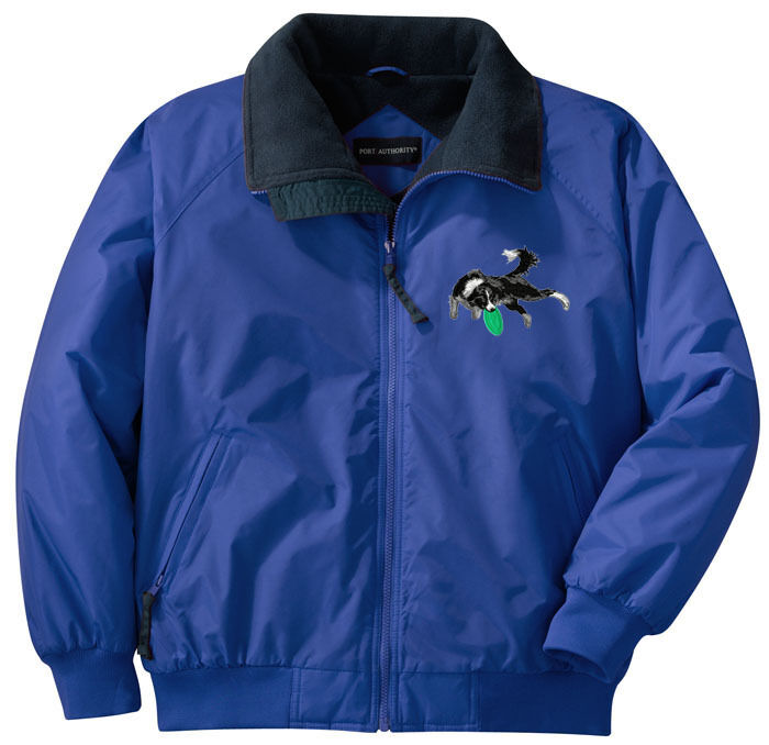 Border Collie Embroidered Jacket - Left Chest - Sizes XS thru XL