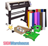 Vinyl Cutter Plotter & Heat Press & Software Sign / T-Shirt / Apparel Business