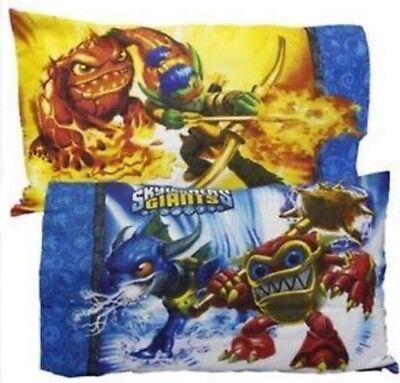 SKYLANDERS Pillowcase NeW Standard Reversible Pillow Case Eruptor Flameslinger for sale  Glasford