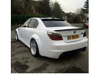 WHITE BMW 530D M5 REP WITH WIDE ARCH KIT FITTED ONLY 2 IN THE UK