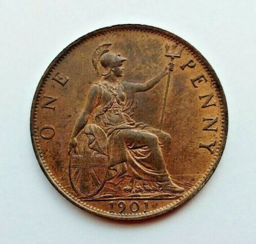 QUEEN VICTORIA PENNY 1901 GREAT BRITAIN UK, Original Red Unc ! - C8383