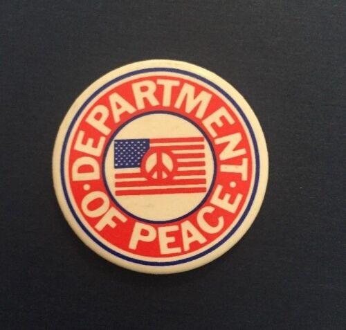 "Vintage ""Department of Peace"" Pinback Button"