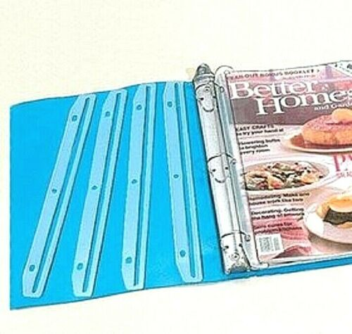 12 Plastic Magazine Catalog Holder Organizers for 3 Ring Binder Clear Clever NIB
