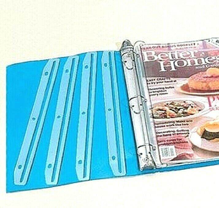 12 Plastic Magazine Catalog Holder Organizers for 3 Ring Binder Clear Clever NIB Binders & Supplies