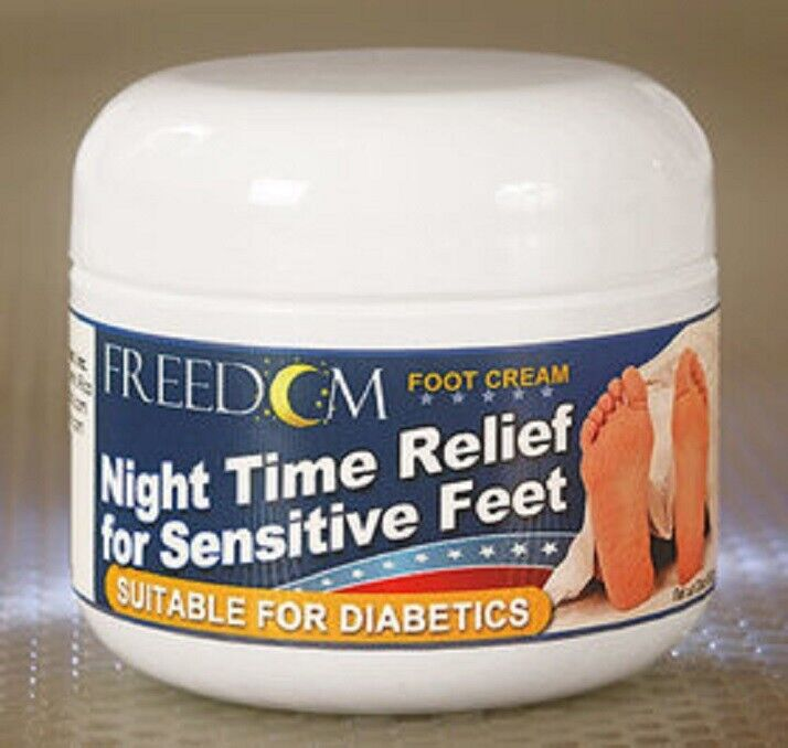 Freedom Night Time Foot Cream 2 oz Tub by Advocate MADE IN USA New SEALED Foot Creams & Treatments