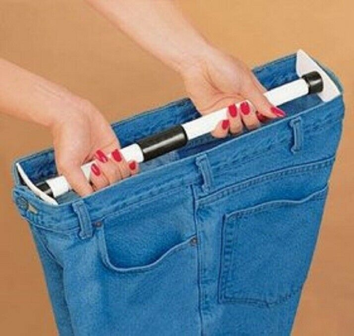 Waist Pants Extender Adds up to 5″ to waist bands jeans pants, Skirt  26″ to 56″ Clothing, Shoes & Accessories