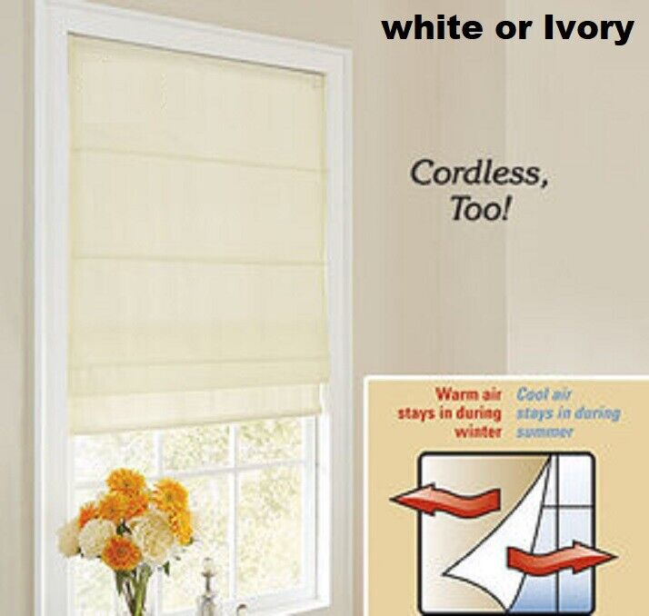 Thermal Voile Roman Shades Commonwealth Thermavoile Rhapsody Lined Cordless NIB Blinds & Shades