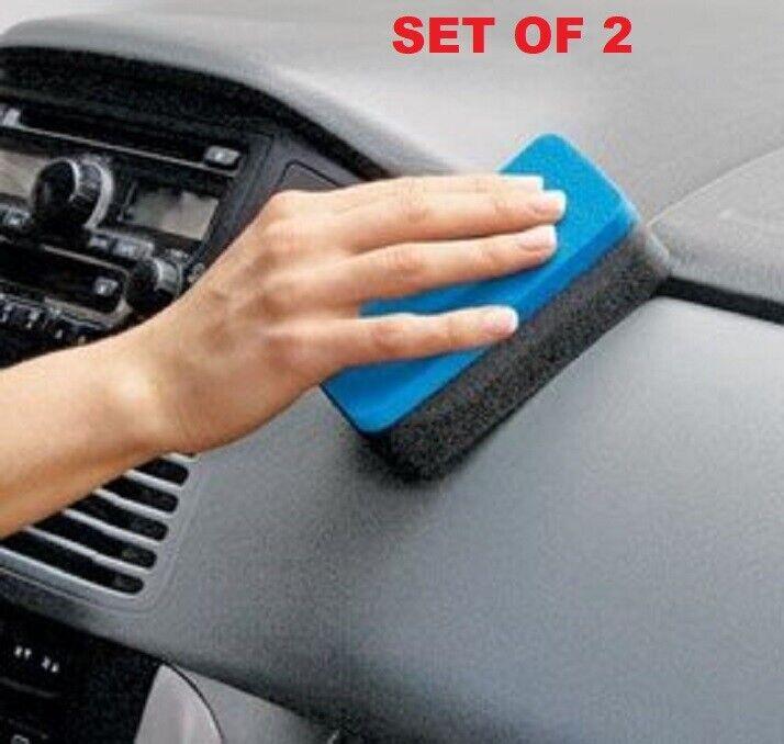 Dashboard Sponges Set of 2 Magic Sponge instantly wipe away built-up dirt NIB Automotive Care & Detailing