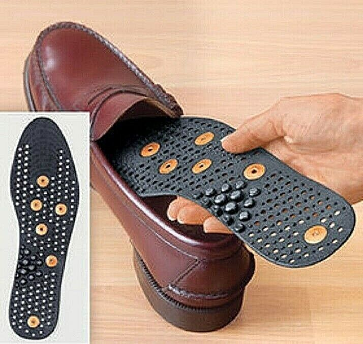 Magnatic Copper Insoles Improve Blood Flow and Ease Pain Invigorating Massage Health & Beauty