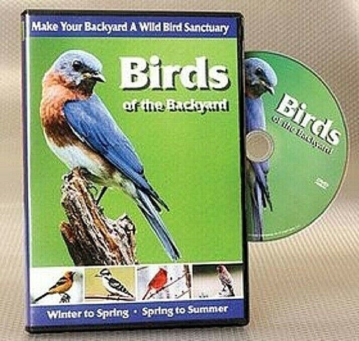 Backyard Birds DVD Cardinals, Orioles, Finches, Robins and more 120 Minutes NEW DVDs & Blu-ray Discs