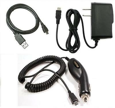Car+wall Charger+usb Cable For Tracfone Lg 501c Lg501c, 430g Lg430g, 530g Lg530g