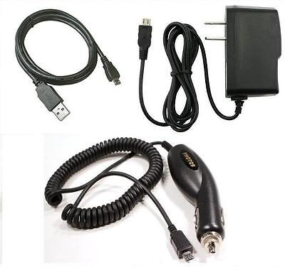 Car+wall Home Ac Charger+usb Cable For Verizon Lg Chocolate 3 Vx8560, Ally Vs740