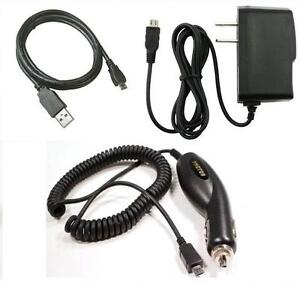 Car+Home Charger+USB Cable for ATT Samsung Rugby Smart I847, Solstice 2 SGH-A817