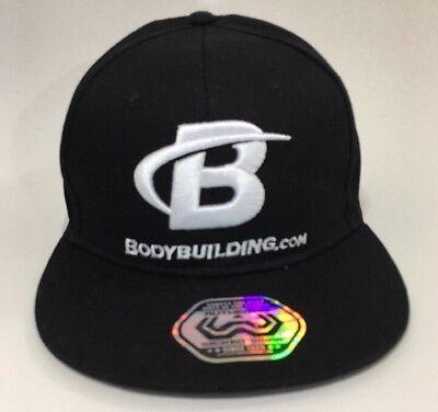 Bodybuilding Com Black Aww Flat Bill Snap Back Cap Free Shipping  New 2017