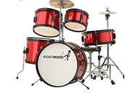 5 piece Junior drum kit (used) excellent condition £70