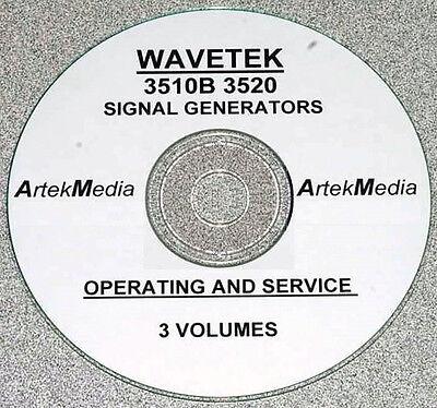 Wavetek 3510b 3520 Signal Generator Operator -service Manuals 3 Vol