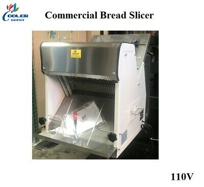New Commercial Bread Slicer Cuts 12 Slices Loaf Heavy Duty Electric 110v