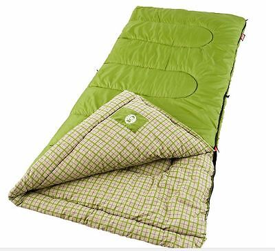 Coleman Green Valley Cool Weather Adult Sleeping Bag Big Tall Cold Camping (Coleman Green Valley Cool Weather Sleeping Bag)