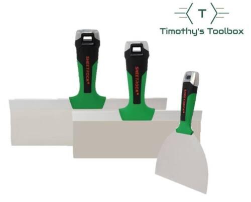 "USG Sheetrock Tools MATRIX Stainless Steel Finishing Knife Set 6-10-12"""