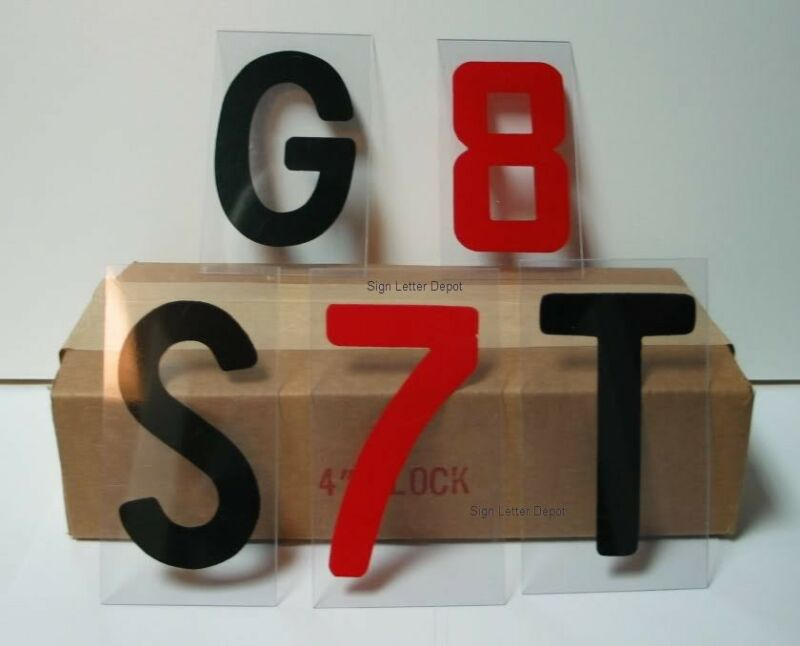 """4"""" Changeable Plastic Outdoor Sidewalk SIGN LETTERS 5-b"""